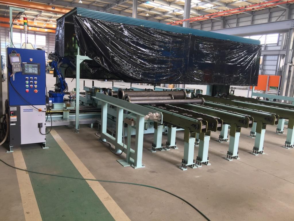 常石鉄工 自社開発の「パイプ直管自動溶接機」受注・販売好調 同業他社二社へ納品完了